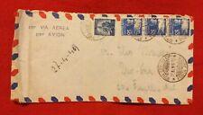 Busta viaggiata Posta Aerea con francobolli democratica 1949 £ 5 + 3 da £ 30