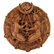 Great Rite Pentacle Plaque - Wood Finish - Dryad Design - Pagan Wiccan Wicca