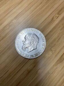 1914D German Bavaria 5 Mark 90% Silver Coin
