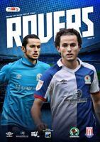 Blackburn Rovers V Stoke City Championship 16-1-21 - Electronic Programme RARE