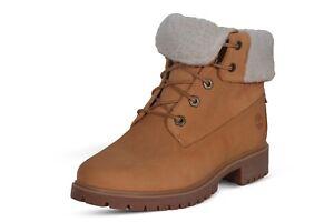 Timberland Jayne Waterproof Fleece Fold-Down Wheat Women's Boot Leather 0A1SGA