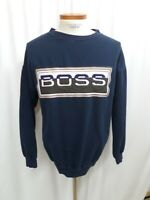 Boss Embroidered Sweatshirt Men's Size Large Vintage 90's Logo Crew Neck