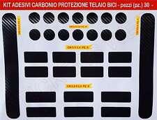 Kit di 30 adesivi stickers protezione telaio bici in CARBONIO _Nero_cod.0503