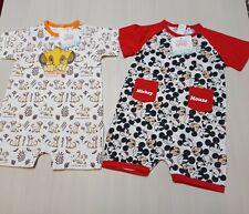 Disney 2 tutine neonato pagliaccetti bimbo 18 mesi