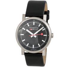 Mondaine Evo Night Vision Black Leather SS Quartz Men's Watch A660.30303.15SBB