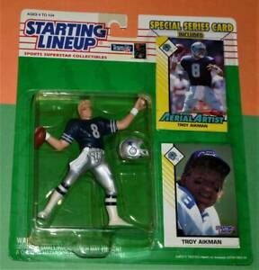 1993 TROY AIKMAN Dallas Cowboys *FREE_s/h* Starting Lineup bonus card Super Bowl