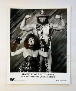 Macho King Randy Savage & Sensational Sherri ORIGINAL 1990 WWF 8X10 Promo Photo!