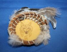 Small Navajo leather basket