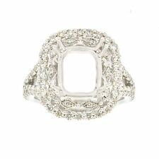 18k White Gold 1.20Ct Diamond Engagement Ring Setting Size 6