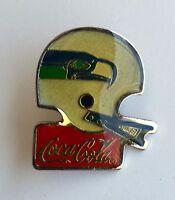 Seattle Seahawks Coca-Cola Metal Helmet Pin - Vintage 1985 NFL Licensed Item L4