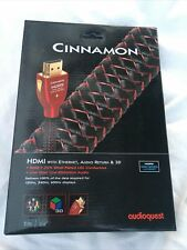 AudioQuest Cinnamon HDMI 1 Meter Cable High Speed W/ Ethernet Audio Return & 3D