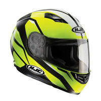 HJC CS-15 Sebka Fluo Yellow Full Face Motorcycle Motorbike Helmet RRP £89.99