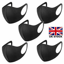 Multi Pack, Face/Mouth Mask Black Breathable Anti-allergic Washable Sent From UK