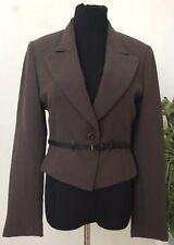 6847f60f03 BARBARA BUI Women's Brown Belted Blazer Jacket Size 6 /EUR 38 EUC! MSRP  $1,257