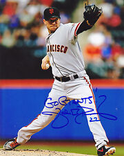 JAKE PEAVY   SAN FRANCISCO GIANTS   ACTION SIGNED 8x10
