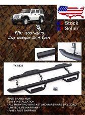 07-2018 Jeep Wrangler JK 4 DR Side 3'' Step Bars Nerf Bars Run Boards MATT BLK