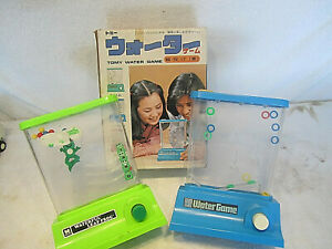TOMY  ~ WATER GAME & WATERFUL LEAP FROG   RETRO GAMES ~ VINTAGE JAPAN