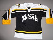 Vtg Texas Tornado SEWN Minor League Hockey NAHL Jersey Fits Men M Excellent Rare