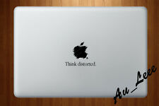 Macbook Air Pro Vinyl Skin Sticker Decal Drawing Apple Logo Distorted CMAC094