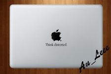 Macbook Air Pro Vinyl Skin Sticker Decal Drawing Apple Logo Distorted CMAC094