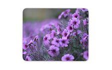 Purple Geranium Flowers Mouse Mat Pad - Flower Mum Sister Gift Computer #13069