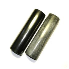 Polished shungite and steatite cylinders + free Worldwide shipping and gift