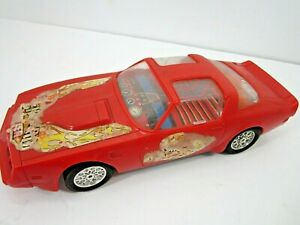 VINTAGE BATTERY OPERATED PONTIAC FIREBIRD SPORTS CAR TOY WORKS HONG KONG