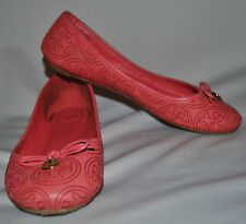 Tory Burch Chelsea Stitched Logo Rose Petal Loafers Ballet Flats Shoes 6M $260