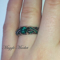 Harry Slytherin House Ring Green Austrian Crystal Draco Malfoy Snape emerald