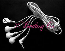+BONUS! Electrode Wires/Cable Connector USE UP TO 4 PADS~3.5mm Plug~TENS Massage