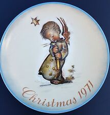 Vintage 1971 Hummel Christmas Plate Limited First Edition*Heavenly Angel