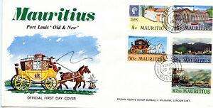 MAURITIUS  1970  Port Louis set FDC  #376-380