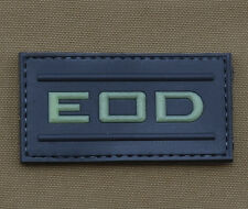 """PVC / Rubber Glow in the Dark Patch """"EOD"""" with VELCRO® brand hook"""