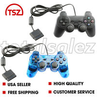 2 For Sony PS2 Playstation 2 Combo Twin Shock Game Controller JoyPad Remote