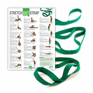 OPTP Original Stretch Out Strap XL with Stretching Exercise Poster