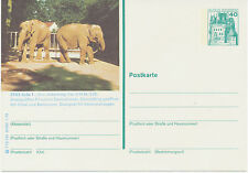 BRD 1978 40 Pfg. Bildpost-GA Burgen und Schlösser 2933 JADE 1 – Zoo ELEFANTEN