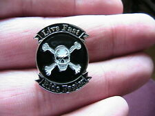 LIVE FAST RIDE FASTER MOTORCYCLE BIKER PIN BADGE MOTORBIKE HELLS ANGEL OUTLAW