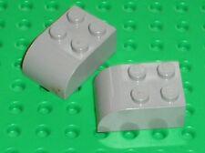 RARE 2 x LEGO OldGray Brick ref 6215 / Set SANTA FE 10020 10022 10025 4607 ....