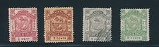 North Borneo #35, #37, #40 & #42 COAT OF ARMS ISSUES OF 1887-1892; CV $40
