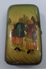 "Russian Lacquer cigarette box Fedoskino ""The Rival"" by Nikolay Kasatkin"