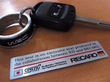 JDM OEM RECARO EMBLEM STICKER DECAL SUBARU STIBRZ IMPREZA WRX FORESTER JAPAN F/S