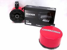 Kicker RED Mini Wakeboard Tower Boat Speakers Bluetooth AMP UTV CAN AM RZR ATV