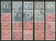 AUSTRIA, SELECTION OF 20 POSTALLY USED POSTAGE DUE STAMPS FROM 1920-21.