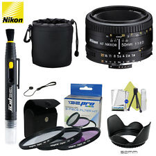 Nikon 50mm F/1.8D AF Lens +Accessory Kit for Nikon D3200 D3300 D5200 D5100 D5300