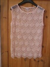Lovely Pink Lacy Summer Top - Size 12