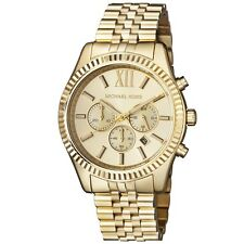 New Michael Kors Lexington Gold Stainless Steel Chronograph MK8281 Men's Watch