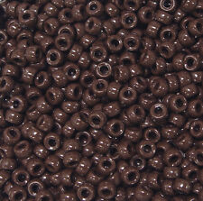 Chocolate Brown Mini Pony Beads made in USA 1000pc for crafts school VBS jewelry