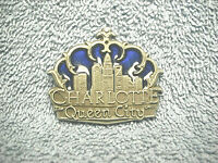 "CHARLOTTE QUEEN CITY NORTH CAROLINA METAL & ENAMEL 1 3/4"" SOUVENIR MAGNET NICE"