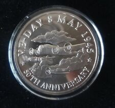 1995 FINE SILVER PROOF TURKS & CAICOS 20 CROWNS COIN COA 50th ANNIVERSARY VE-DAY