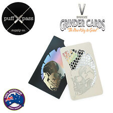 *GENUINE* V SYNDICATE GRINDER CARD - SKULL MOHAWK DESIGN - POCKET HERB GRINDER